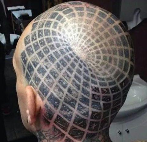 Tetoválás fejen