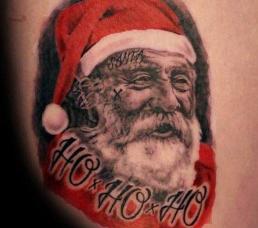 Mikulás tetoválva