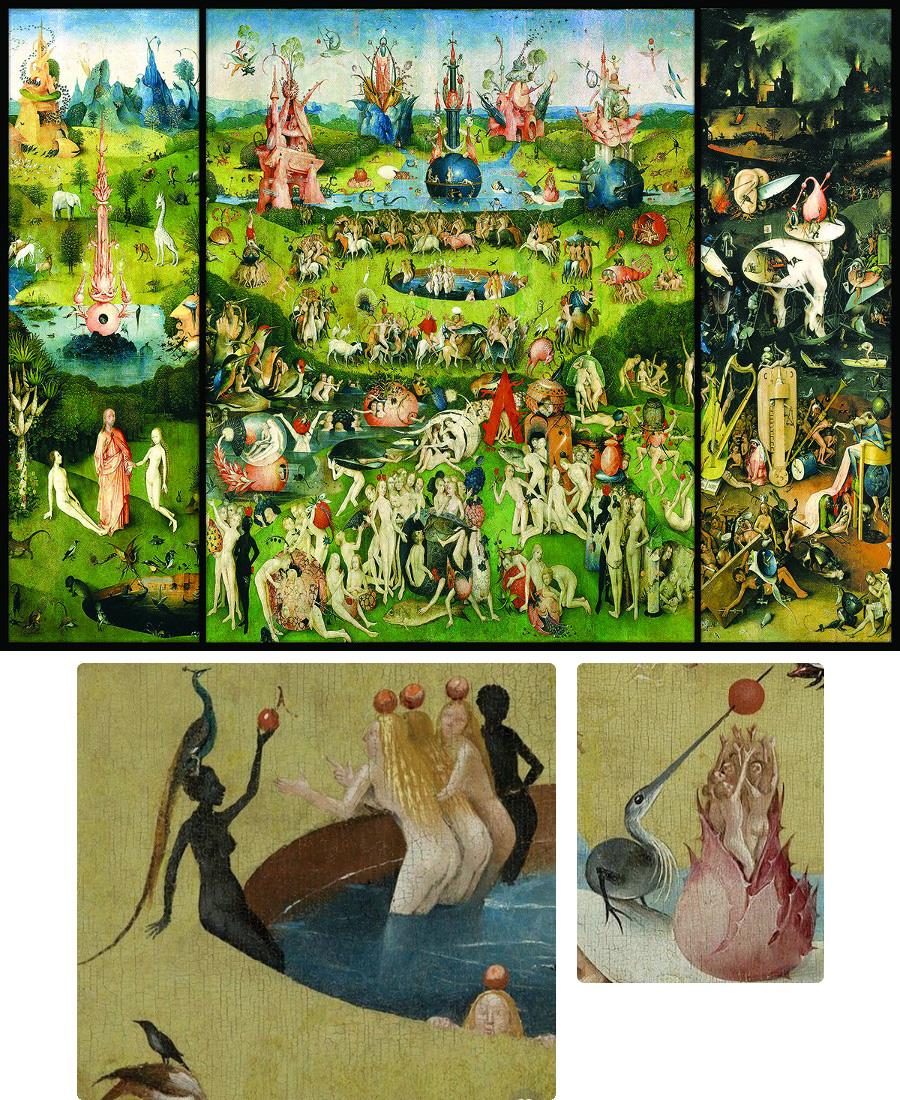 Hieronymus Bosch: A gyönyörök kertje - és a festmény részletei