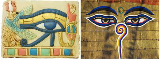 Hórusz és Buddha szeme