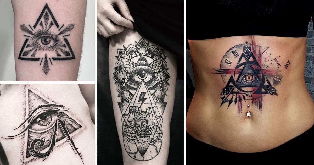 Mindent látó szem tetoválások