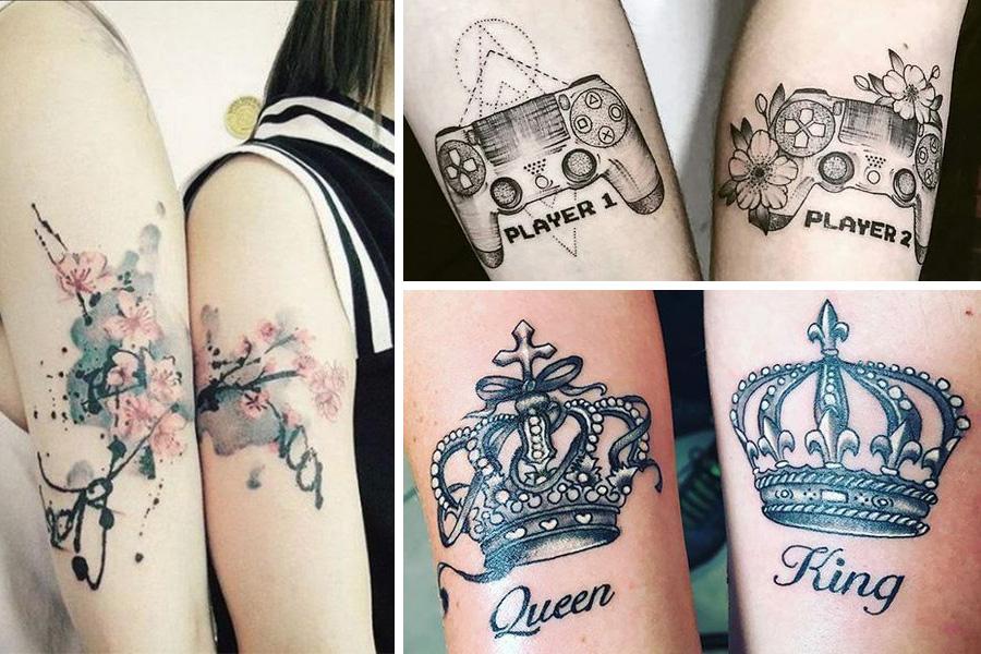 Páros tetoválás - két összetartozó kép