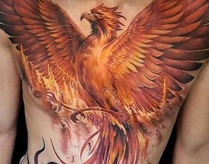 Főnix tetoválás