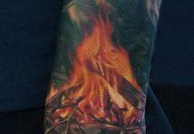 Tűz tetoválás