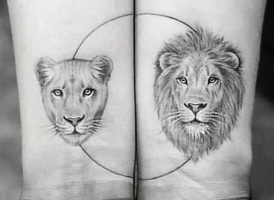 Pártetoválás - oroszlánok