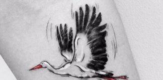 Gólya tetoválás