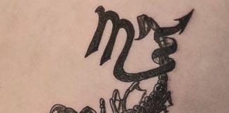 Skorpió tetoválás