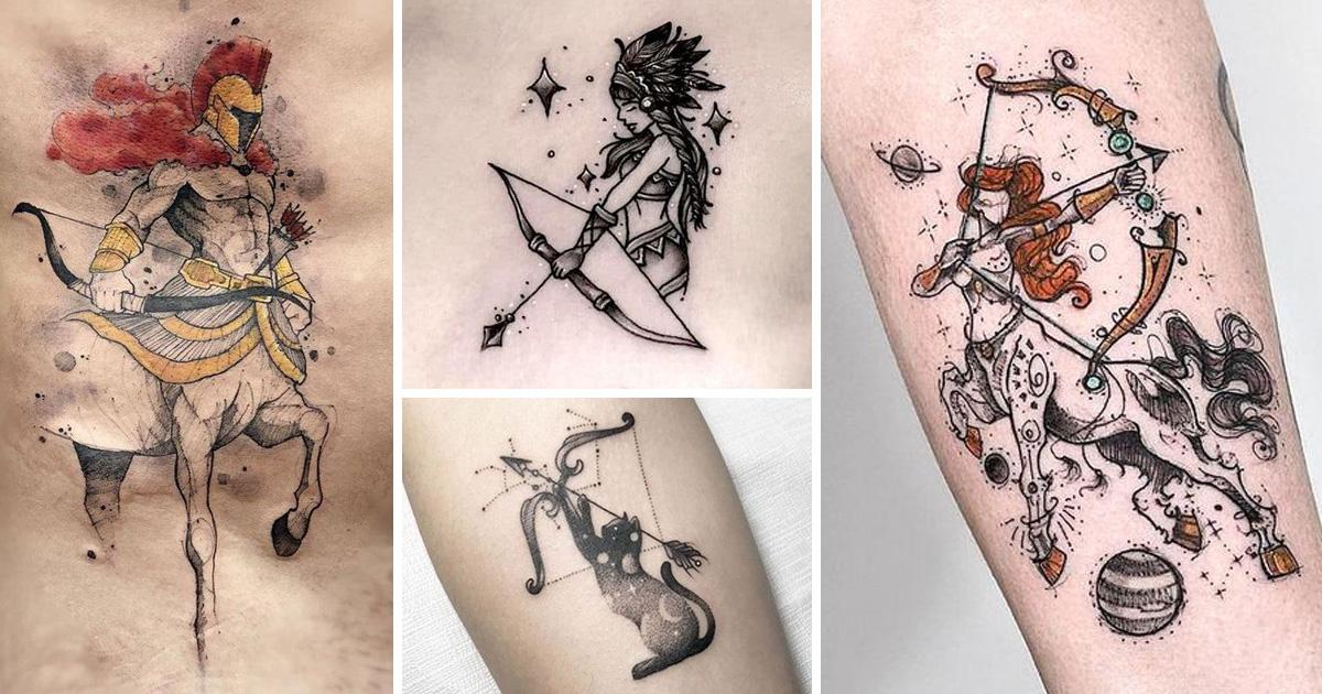 Nyilas csillagkép tetoválások