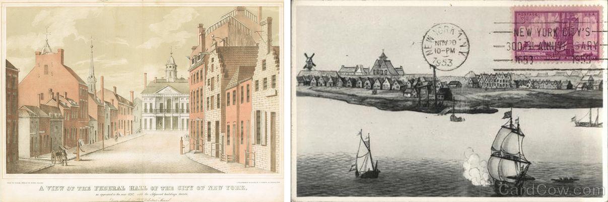 New York régi képeslapokon