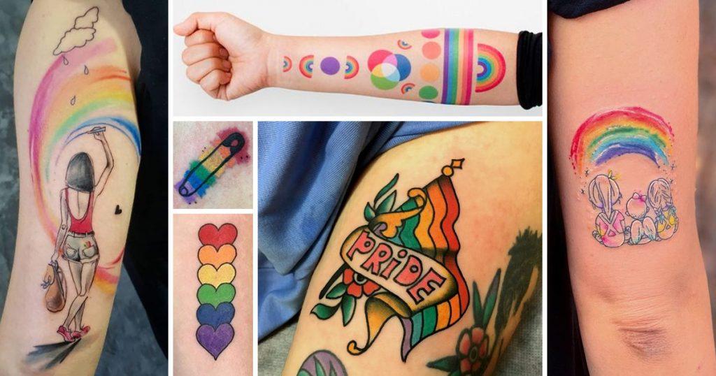 Szivárvány tetoválások