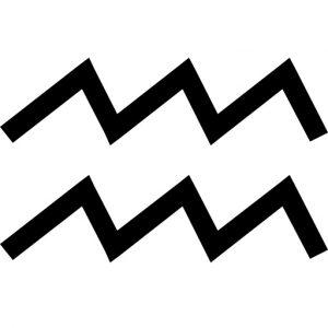Vízöntő csillagjegy szimbólum