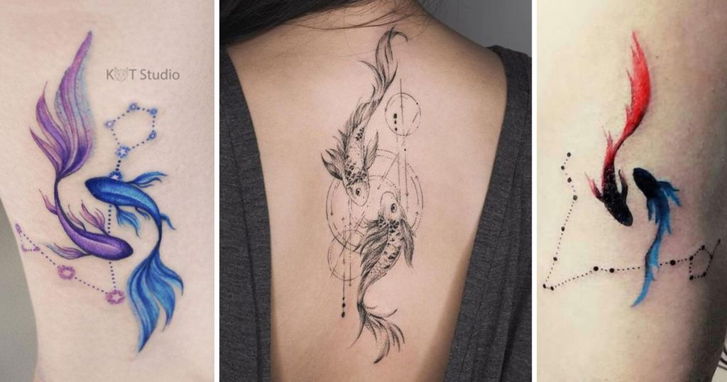 Halak csillagkép tetoválások