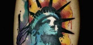 Szabadság-szobor tetoválás