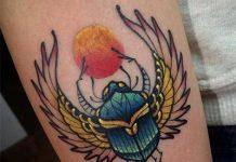 Szkarabeusz tetoválás