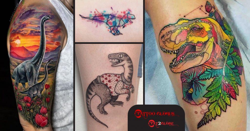 Dinoszaurusz tetoválások