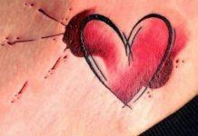 Szív tetoválások